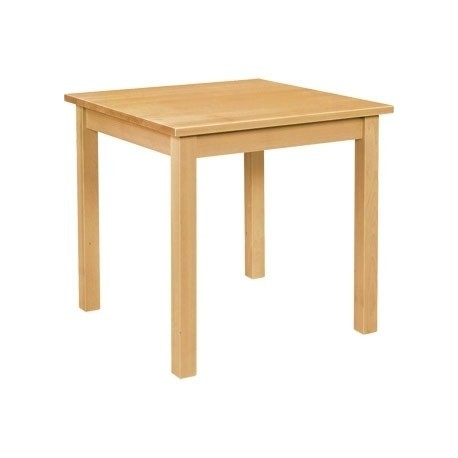 Wooden Dining Table Natural Finish 760mm