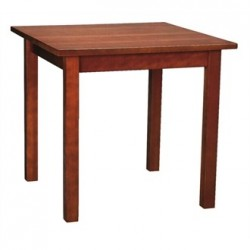 Wooden Dining Table Walnut Finish 760mm