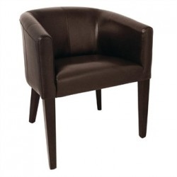 Bolero Dark Brown PU Leather Tub Armchair
