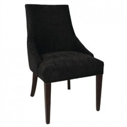 Bolero Black Finesse Dining Chairs (Pack of 2)