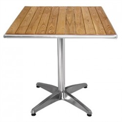 Bolero Ash Top Table Square 700mm