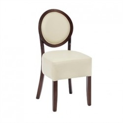 Bolero Dining Sidechairs Ivory Round Back (Pack of 2)