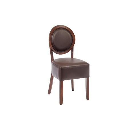 Bolero Dining Sidechairs Mocha Round Back (Pack of 2)