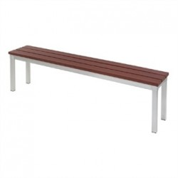 Enviro Outdoor Walnut Effect Faux Wood Bench 160cm