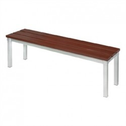 Enviro Outdoor Walnut Effect Faux Wood Bench 105cm