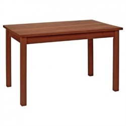 Dining Table Walnut Finish Wood 1220mm