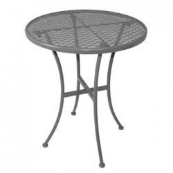 Grey Steel Patterned Round Bistro Table Grey 600mm