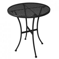 Black Steel Patterned Round Bistro Table Black 600mm