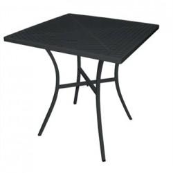 Black Steel Patterned Square Bistro Table 700mm