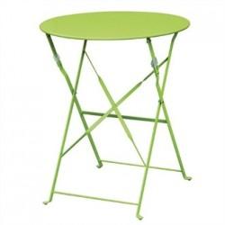 Bolero Green Pavement Style Steel Table 595mm