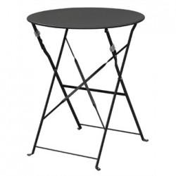 Bolero Black Pavement Style Steel Table 595mm