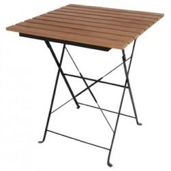 Bolero Faux Wood Bistro Table Square 600mm