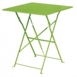 Bolero Lime Green Pavement Style Steel Table Square 600mm