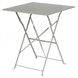 Bolero Grey Pavement Style Steel Table Square 600mm