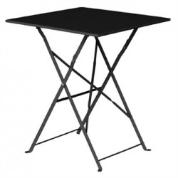 Bolero Black Pavement Style Steel Table Square 600mm