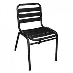 Bolero Bistro Sidechairs Aluminium Black (Pack of 4)