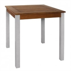 Bolero Square Wood and Aluminium Table 700mm