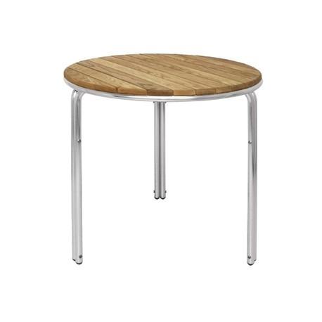 Bolero Round Ash and Aluminium Table 600mm