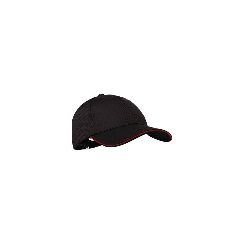 34b334359de8 Colour by Chef Works Cool Vent Baseball Cap Black with Red - Nella ...