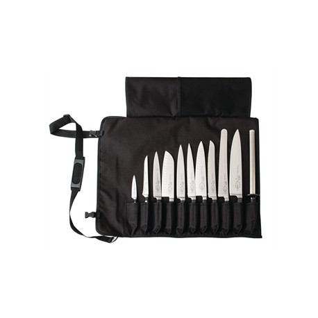 Dick Black Textile Roll Bag and Strap 11 Slots