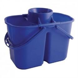 Jantex Colour Coded Twin Mop Buckets Blue