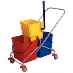 Jantex Dual Bucket Mop Wringer with Frame