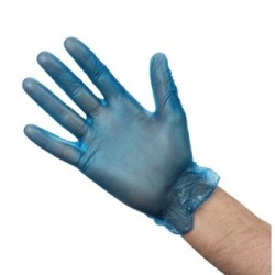 Vogue Vinyl Food Prep Gloves Blue Powdered Medium