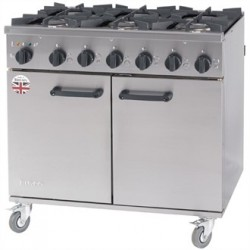 Burco Titan 6 Burner Natural Gas Dual Fuel Range RG90DF/NG