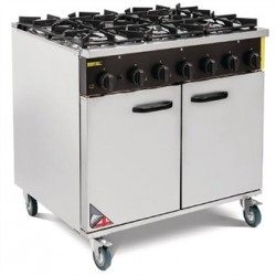 Buffalo 6 Burner Natural Gas Oven Range