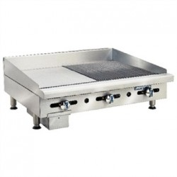 Imperial Thermostatic Ribbed and Smooth Natural Gas Griddle ITG-18-GG18