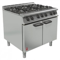 Falcon 6 Burner Dominator Plus Oven Range G3101 Natural Gas with Feet