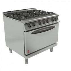 Falcon Dominator Plus 6 Burner Oven Range G3101D Propane Gas with Feet