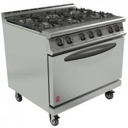 Falcon Dominator Plus 6 Burner Oven Range G3101D with Castors Natural Gas