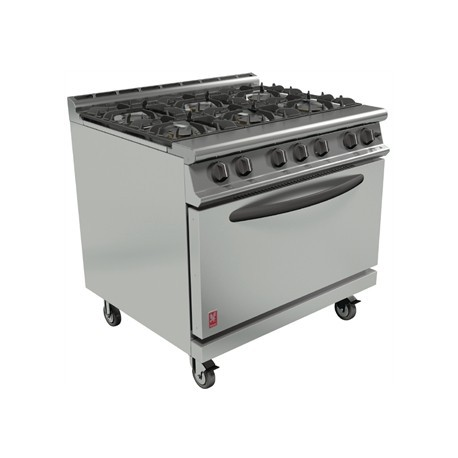 Falcon Dominator Plus 6 Burner Oven Range G3101D with Castors Propane Gas