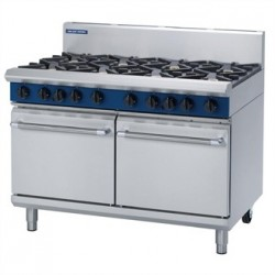 Blue Seal Evolution 8 Burner Double Static Oven LPG 1200mm G528D/L