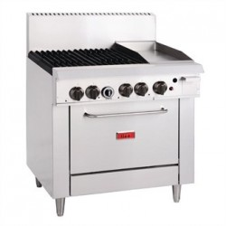 Thor 4 Burner Natural Gas Oven Range and 305mm Grill