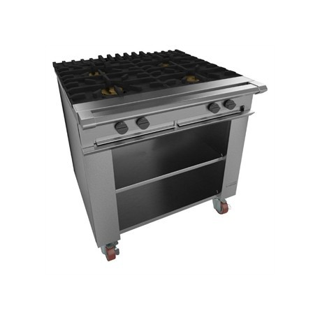 Falcon Chieftain 4 Burner Boiling Table on Castors Natural Gas G1026X