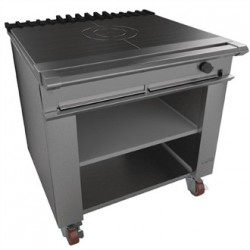 Falcon Chieftain Single Bullseye Solid Top Boiling Table with Castors Natural Gas G1026BX