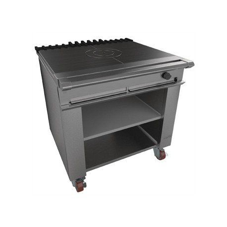 Falcon Chieftain Single Bullseye Solid Top Boiling Table, Castors LPG G1026BX