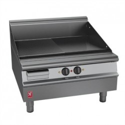 Falcon Dominator Plus 800mm Wide Half Ribbed Griddle E3481R