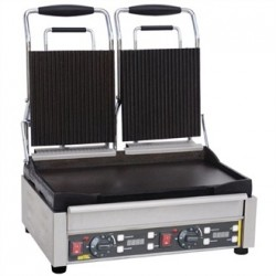 Buffalo Double Contact Grill Ribbed Top