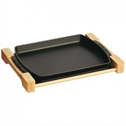 Staub Cast Iron Dish with Wooden Board