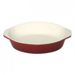 Vogue Red Round Cast Iron Gratin Dish 400ml