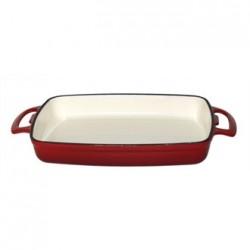 Vogue Red Rectangular Cast Iron Dish 2.8Ltr