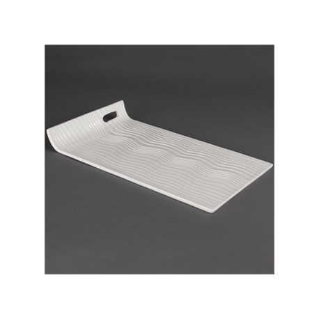 Olympia Whiteware Raised End Rectangular Platter 380x 225mm