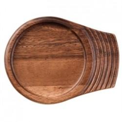 Churchill Single Handled Small Wooden Trays