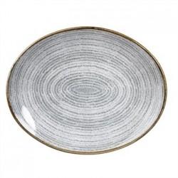 Churchill Studio Prints Stone Grey Oval Coupe Plate 270 x 229mm