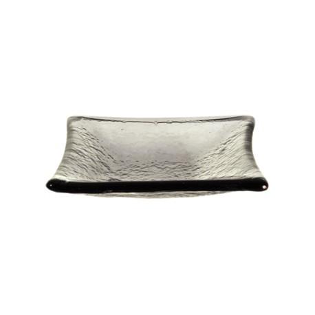 Olympia Mini Glass Plates Smoke Grey 95mm