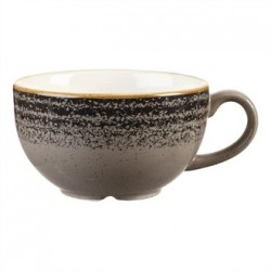 Churchill Studio Prints Charcoal Black Cappuccino Cup 227ml 8oz