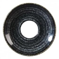 Churchill Studio Prints Charcoal Black Cappuccino Saucer 156mm